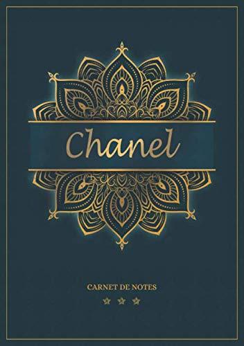 Chanel - Carnet de notes: Cahier A5 avec prénom personnalisé Chanel   Cadeau d'anniversaire pour femme, maman, sœur   Design : mandala en or   120 pages lignée, Petit Format A5 (14.8 x 21 cm)