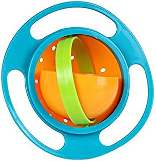 Baby Gyro Bowl 360 Dgree Rotation Spill Resistant Gyroscopic Bowl with Lid Toy Tableware for Kids Toddlers