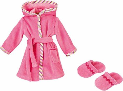 Käthe Kruse 33993 - Bademantel mit Hausschuhen 30-33 cm, rosa