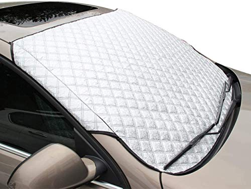 VANGE Protector para Parabrisas - Cubierta del Parabrisas del Automóvil Plegable Impermeable Removible,Anti UV,Antihielo,Lluvia Antipolvo,Anti Nieve,Flexibles para SUV Grandes o Pequeños