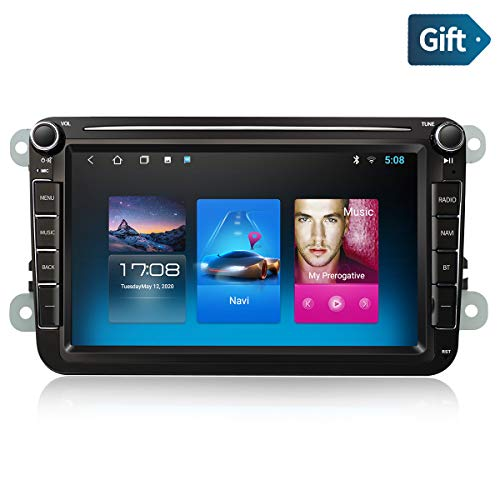 Android 10.0 2Din 8-Zoll AutoRadio Multimedia Video Player mit Navi GPS WiFi USB DAB+ Stereo Bluetooth mirrorlink rückfahrkamera Touchscreen Kompatibel für vw/Skoda/SEAT/Golf 5 6/Polo/Octavia/T5