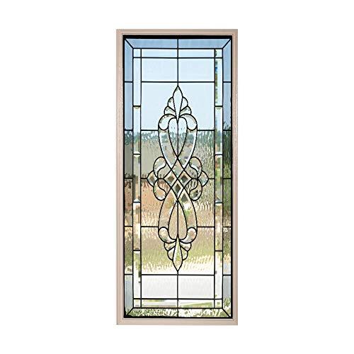 Papel Pintado Puerta Efecto 3D Extraíble Murales Para Puertas Autoadhesivo Impermeable PVC de Cocina Sala Baño oficina Decoración Puerta Papel Tapiz 77 x 200cm Patrón de vidrio transparente