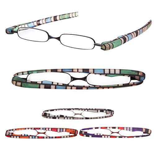 老眼鏡 携帯用 プレミアムカラー 超軽量 おしゃれなリーディンググラス[Pod Reader]ユニセックス 眼鏡ケース不要[PrePiar] (+2.5, ブルー)