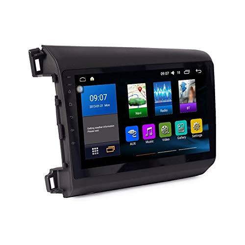 JIBO Android 10.0 Reproductor Multimedia para Automóvil Sistema GPS Soporte para Radio Auto Play/OBD / 4g WiFi/Dab/Soporte para Video, para Civic 2012-2015