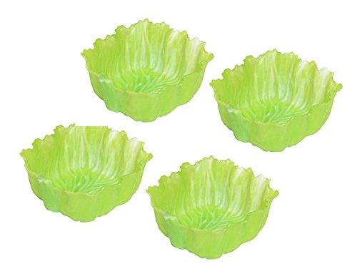 シンカテック 抗菌 お弁当カップ 角型 ベジカップ レタス 4個入 グリーン