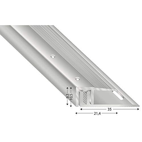 Kügele STS21 S 100 Fussboden Abschlussprofil 100cm Silber eloxiert, Für Böden 7-15 mm