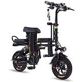D&XQX Bicicleta eléctrica Plegable para 2 Personas Bicicletas E Bicicleta eléctrica Plegable E-Bici Plegable Bicicleta eléctrica Bicicletas eléctricas Bicicletas para Adultos