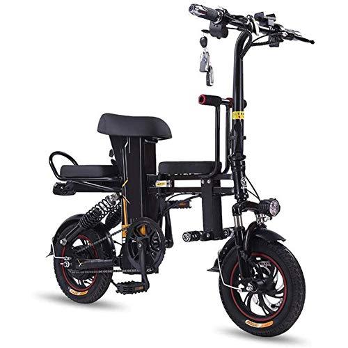 D&XQX Bicicleta eléctrica Plegable para 2 Personas Bici