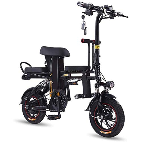 Read About RXRENXIA Folding Electric Bicycle,Aluminum Folding Bike with Pedals Adult Two-Wheel Mini ...