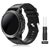 TOPsic Garmin Fenix 5 Banda, Silicona Reemplazo Correa con 2pzs Destornilladores para Garmin Fenix 5 / Forunner 935 Smart Watch, 13.5cm-22.5cm, no Adapta a Fenix 5X, 5s