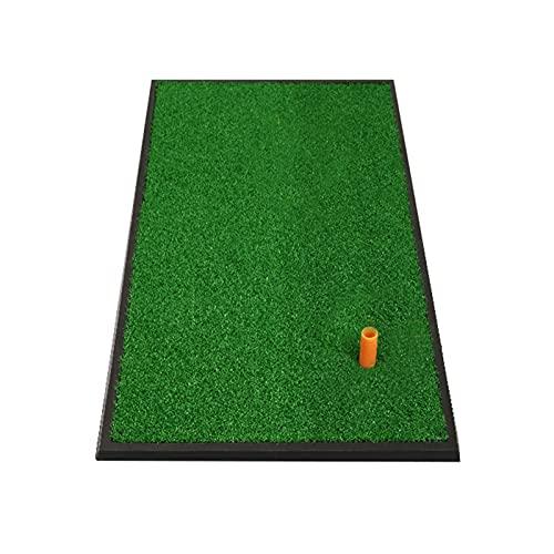 Limuchen Plegable 12mm Turf Practice Mat Golf Matting Mat, 63 × 33cm Pequeño Portátil Capacitación de Golf Capacitación Ayuda Lanzamiento de Lanzamiento con Borde de Goma, Camisetas de Golf Portátil