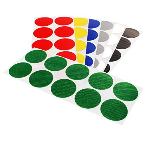 Klebepunkte farbig | PE-beschichtete Markierungspunkte | Farbe, Menge & Durchmesser wählbar | Bunte Klebepunkte