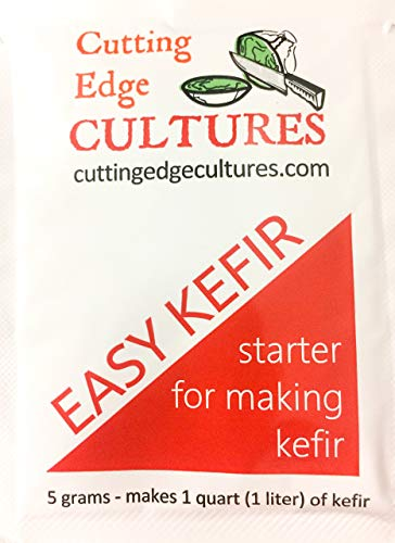 Cutting Edge Cultures Easy Kefir Starter Culture, 1 Packet, 5g, Makes 1 Quart