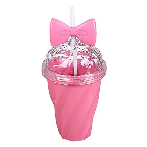 Serria Bouteille Sport Bouteille d'eau tasse pour enfant Action Cup, paille flexible et capuchon à visser, étanche, sans BPA, 400-420 ml