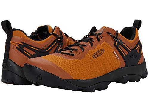 KEEN Men's Venture Low Height Waterproof Hiking Shoe, Pumpkin Spice/Black, 7 D (Medium) US