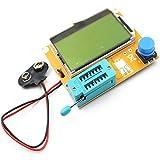 LCR-T4 LCD Tester Transistor Digitale Misuratore Retroilluminazione Diodo Triodo capacità Esr Meter per Mosfet/Jfet/Pnp/Npn L/C/R 1 (Bianco)