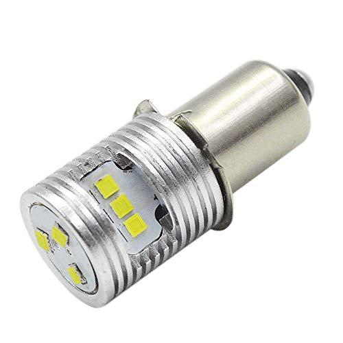 Ruiandsion Actualización de la bombilla de la linterna LED P13.5S Bombillas base 6-24V CSP 9SMD Chipset para el faro Linterna Antorcha LED Kit de conversión Bombilla (paquete de 1)
