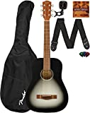 Fender FA-15 3/4 Scale Kids Steel String Guitar Learn-to-Play Bundle with Gig Bag, Tuner, Strap, Picks, Fender Play Online Lessons, and Austin Bazaar Instructional DVD - Moonlight Burst