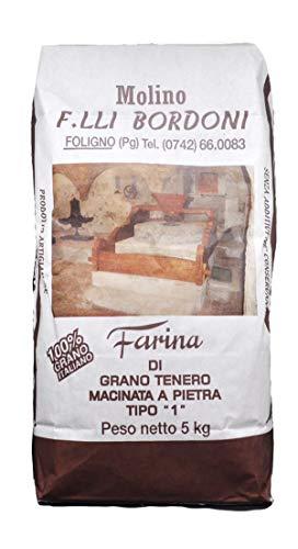 Farina di grano tenero tipo 1 5kg Farina macinata a pietra Farina tipo 1 non trattato chimicamente...