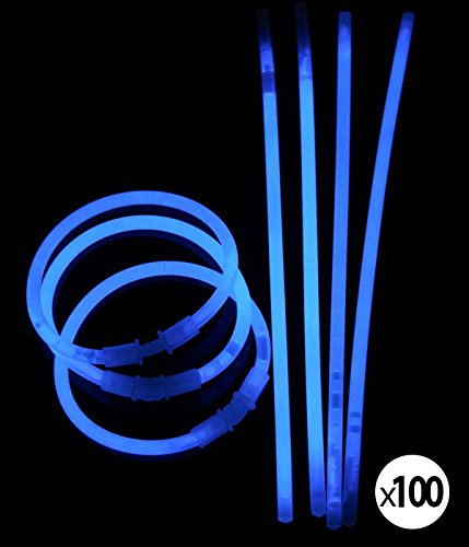 Superbrite 100 Bracelets Fluo Lumineux BLEU
