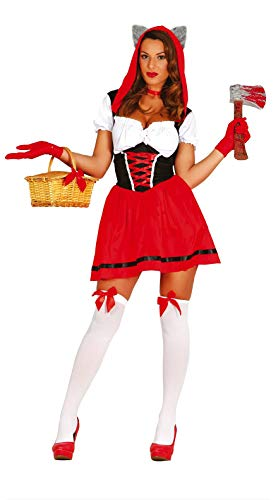 Fiestas Guirca Rotkäppchen Wolf Kostüm sexy Frau für Horrorkostüm