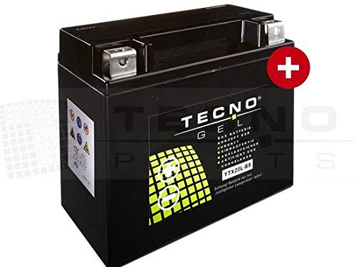 TECNO-GEL Motorrad-Batterie YTX20L-BS für HARLEY DAVIDSON FLSTC 1340/1450/1584/1690 Heritage Softail 1991-2017, 12V Gel-Batterie 20Ah (DIN 82000), 175x87x155 mm inkl. Pfand