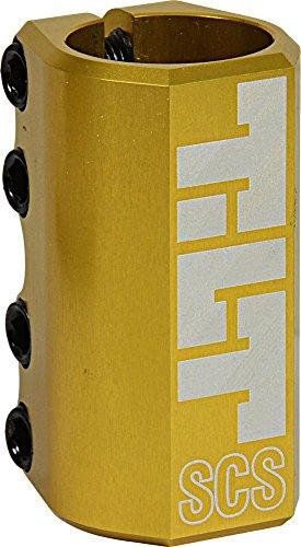 TILT SCS Compression System Stunt Scooter Abrazadera + Fantic26 Pegatinas (Classic LT 32 Gold)