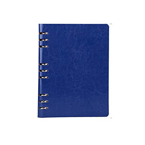 cuadernos de redacción Cuaderno cuadernos papel del diario de la libreta de primera calidad Papel grueso de cuero de imitación escritura de un diario de la vendimia Encuadernado con espiral Bloc de no