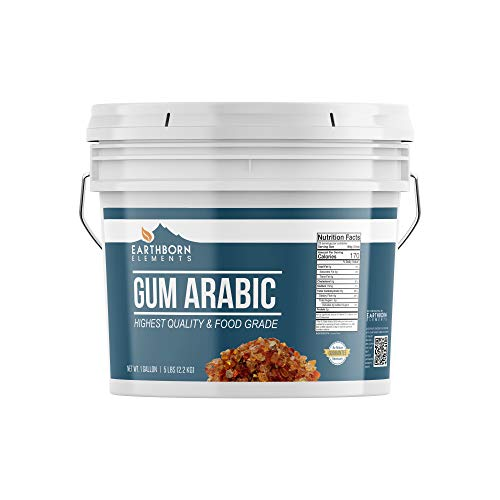Gum Arabic (Acacia), 1 Gallon, Food Safe , DIY Watercolor Paint, Craft Cocktails, Royal Icing, Ice Cream, Confectionery Crafts, Resealable Bucket by Earthborn Elements