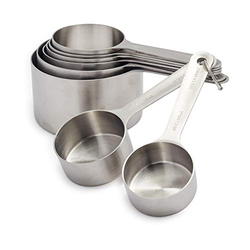 Sur La Table Stainless Steel Measuring Cups, Set of 8