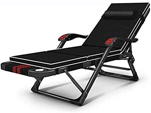 Silla tumbona LIFE DE OFICINA INTERIOR ALMUERZO Break Lazy Couch Hackress Sillón de salón, sillón plegable de gravedad cero ajustable, silla de pesca de jardín de camping de sol de playa (color: a)