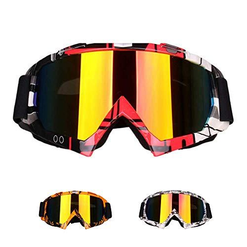 Animatey Schützende Winddicht Motocross MX Crossbrille Schutzbrille Off Road Motorrad Brille Racing Motorradbrille zum Supermoto Dirtbike auch als Skibrille, Sportbrille, Fahrradbrille nutzbar