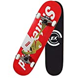 "Pro Skateboards 31"" X 8"" Standard Skateboards Cruiser Complete Canadian Maple 8 Layers"