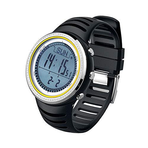 SUNROAD 5ATM Waterproof Altimeter Compass Stopwatch Fishing Barometer Pedometer Outdoor Sports Watch
