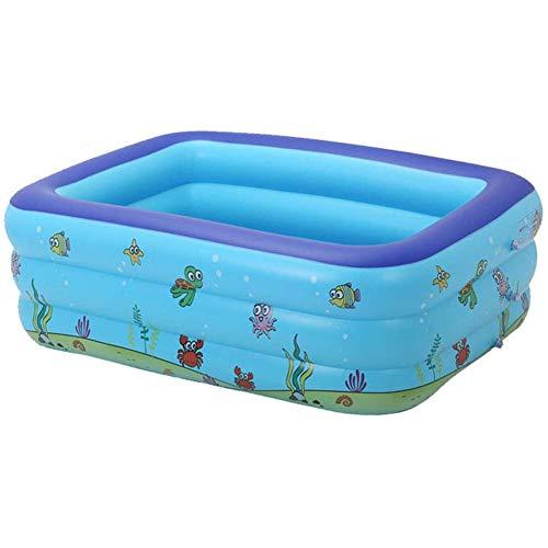 FSGD Familie Aufblasbarer Pool, Rechteckig Aufblasbarer Pool, Verdickte Abriebfestigkeit Ocean Ball Pool, Passend Für Kinder Erwachsene, Familie, Übererdig, Garten, Outdoor,150 * 110 * 50
