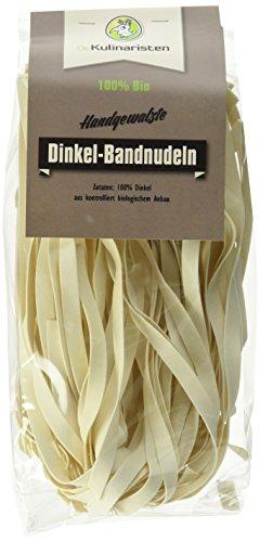 Die Kulinaristen Bio Bandnudel Dinkel pur, handgemacht, vegan, ohne Ei, 10er Pack (10 x 250 g)
