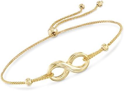 Ross-Simons 14kt Yellow Gold Infinity Symbol Bolo Bracelet
