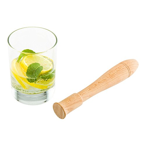 Bar Lux 7.5 Inch Cocktail Muddler, 1 Break-Resistant Drink Muddler - Streamlined Design, Durable, Natural Wood Bar Muddler, Crush Herbs, Spices, And Berries - Restaurantware