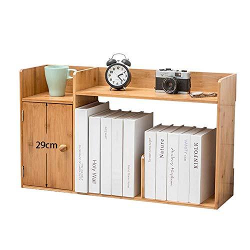 JCNFA planken desktop opslag plank meerlagige ladekast deur opslag deur zuignap ontwerp, bamboe