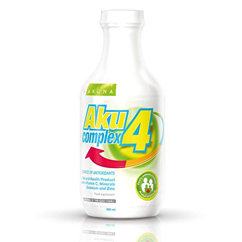 Aku4Complex - Vitamin C 1500 mg Selenium 30 mcg zinc 12 mg in a Daily dose | Liquid Form zinc Selenium Vitamin C | Glass Packaging | Made in Canada