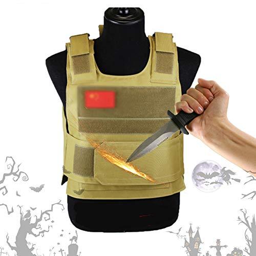 POEO Anti-Messer-Weste, Stichfeste Weste Unterziehweste, Hochmanganstahlauskleidung Stichfeste Kleidung, Männer Frauen Sicherheitsbeamter, Vermeiden Sie Stichwunden Schützen Sie Ihren Körper