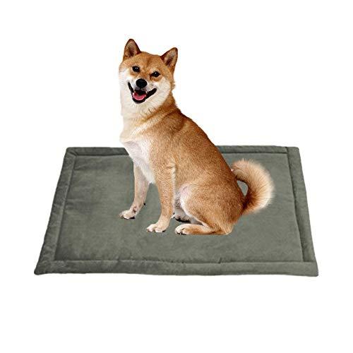 kuaetily Haustiermatte, Tierekissen Hundmatte Katzendecke waschbare Haustierdecke hygienische rutschfeste und weiche Bette fürHunde&Katzen(M (89 * 58cm))