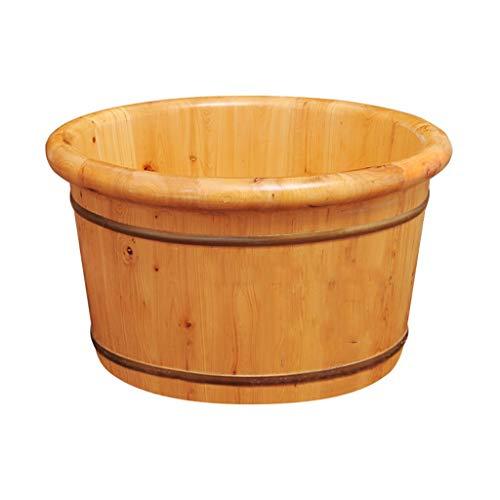 CYLQ Houten badkuip met grote afmetingen voor het inweken van voeten, vijvervoet, pedicure en massageapparaat voor de behandeling van spa thuis, 21 cm/26 cm