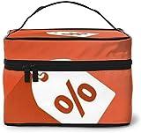 Divertido descuento de promoción (4) diseño grande bolsa de maquillaje mujeres portátil cosmético caso organizador viaje con cremallera malla cepillo bolsillo aseo con mango chica