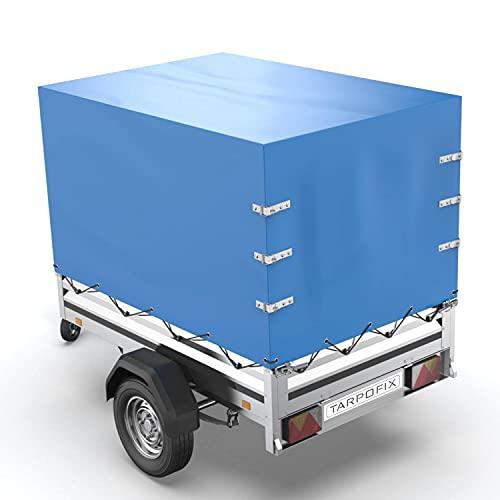 Tarpofix® Anhänger Hochplane 210x115x130 cm inkl. Planenseil - randverstärkte & robuste Stema Anhänger Plane - Langlebige Anhänger Abdeckplane - Ideale Anhängerplane für viele 750 kg PKW Autoanhänger