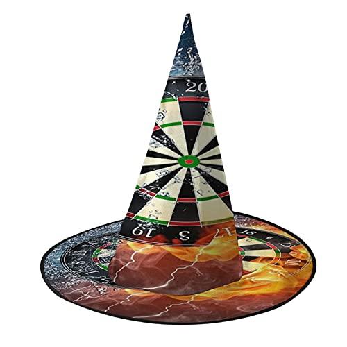 Fuego y hielo Dartboard Burning Water Halloween Bruja Sombreros Cosplay Favors Accesorio de disfraz para fiesta Wizard Cap
