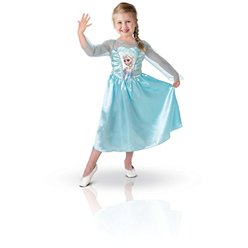 Rubie's 889542M deguisement robe Frozen, La Reine des Neiges Elsa, Taille 5/6 ans
