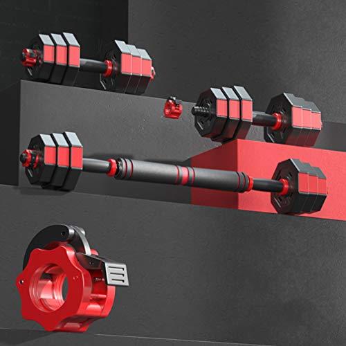 Conjuntos de mancuernas ajustables Conjunto de barras mancuernas multifuncionales para hombres o mujeres Pesos libres 10/20 kg Conjunto de mancuernas Dumbbell Home Fitness Equipo de ejercicio,5kgx2