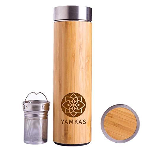 Yamkas Botella de bambú (330 ml).