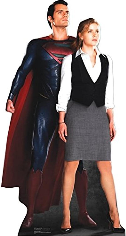 Pappaufsteller Superman & Lois Lane Aufsteller Standup Figur Kinoaufsteller Pappfigur Cardboard Lebensgro Life-Größe Standup